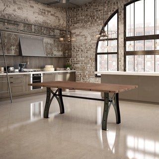 "Amisco Sierra Table with 40"" x 84"" Distressed Solid Birch Top"