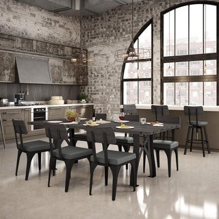 Carbon Loft Kettering Metal Chairs and Sierra 84-inch Table Dining Set