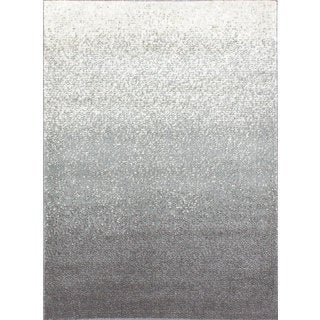 Ecarpetgallery Salt & Pepper Blue, Grey Plush Rug (5'3 x 7'3)