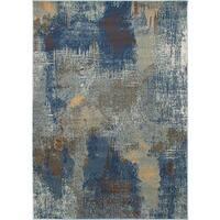 Ecarpetgallery Handmade Impressions Blue, Grey Rug - 5'3 x 7'6