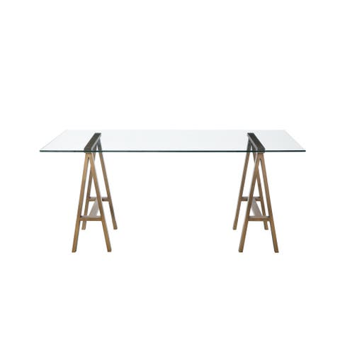 Brady Desk in Brass - Bronze