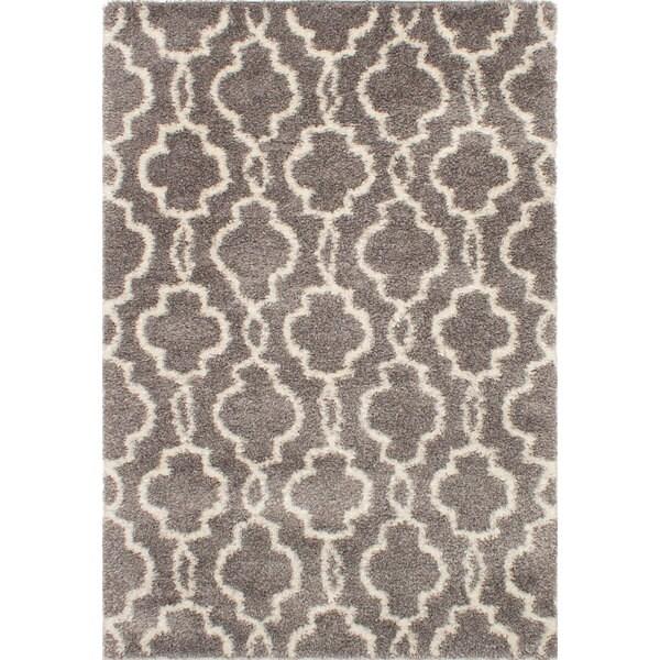 Ecarpetgallery Alpaca Grey Shag Rug (6'7 x 9'8)