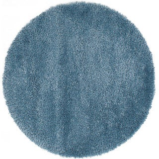 Ecarpetgallery Uptown Blue Shag Rug (4'4 x 4'4)
