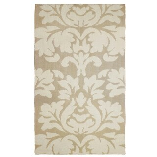 Laura Ashley Kent Plush Knit Taupe Accent Rug - (5 x 8 ft.)