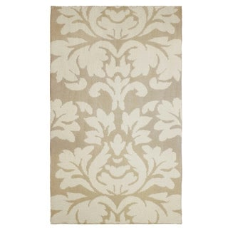Laura Ashley Kent Plush Knit Taupe Accent Rug - (27 x 45 in.)