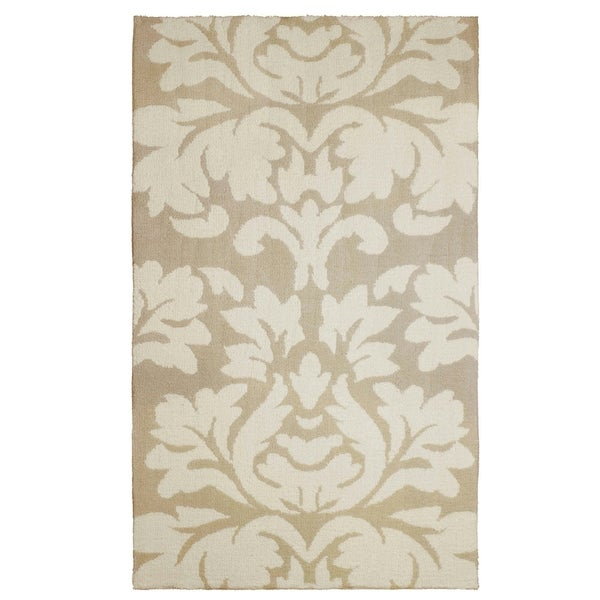 Laura Ashley Kent Plush Knit Taupe Accent Rug -