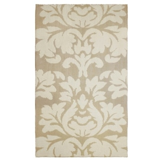 Laura Ashley Kent Plush Knit Taupe Accent Rug - (8 x 11 ft.)