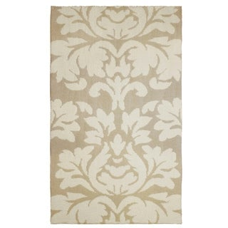 Laura Ashley Kent Plush Knit Taupe Accent Rug - (4 x 6 ft.)