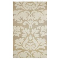 Laura Ashley Kent Plush Knit Taupe Accent Rug - 4' x 6'