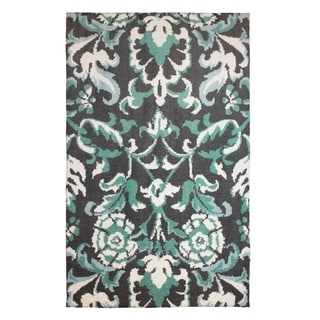 Laura Ashley Penelope Plush Knit Duck Egg Blue Accent Rug - (24 x 48 in.)