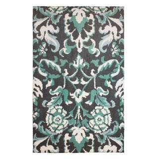 Laura Ashley Penelope Plush Knit Duck Egg Blue Accent Rug - (22 x 56 in.)