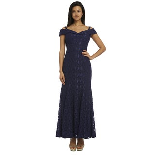 R&M Richards Women's Navy Blue Mermaid Gown