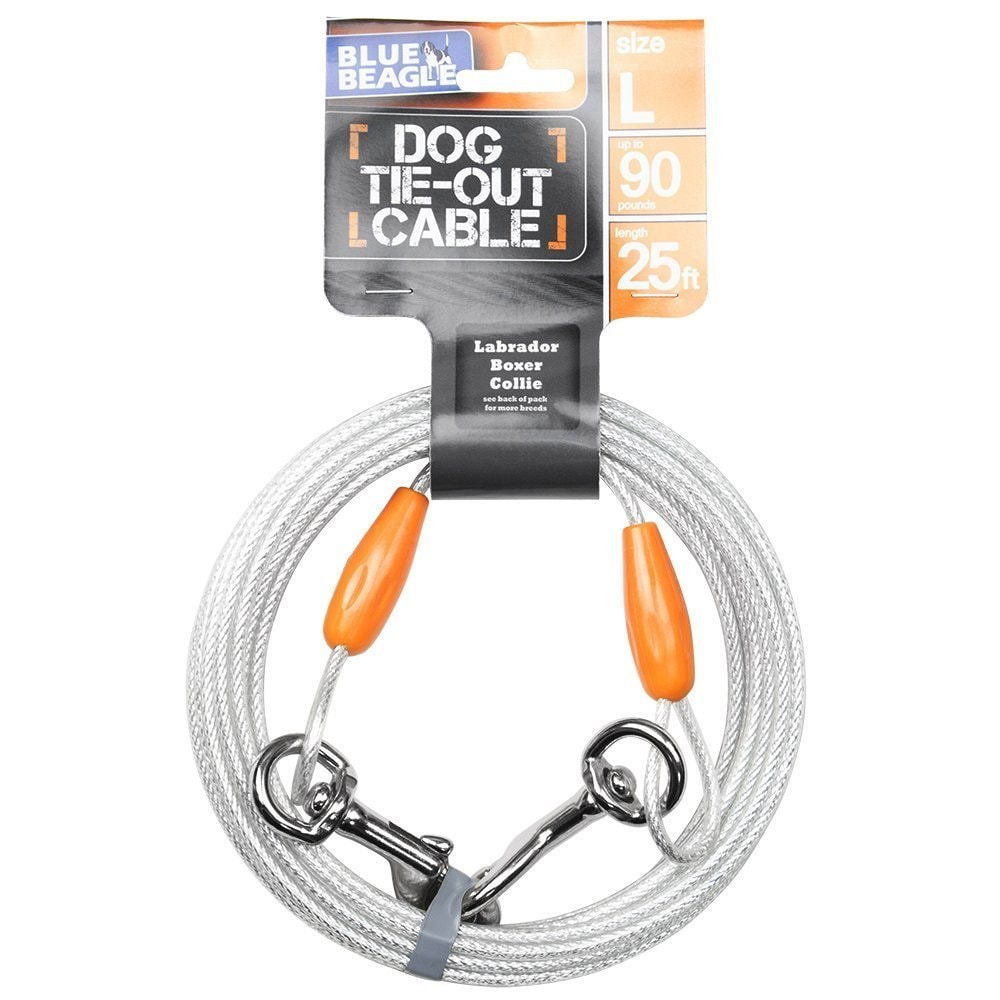 BV 25 Feet Pet Reflective Tie-Out Cable (Large-Dogs up to...