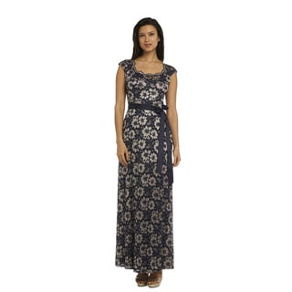R and M Richards Lace Long Gown
