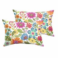 Galliford Multi Floral Indoor/ Outdoor 13 x 20 inch Knife Edge Pillow Set