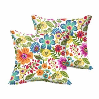 Galliford Multi Floral Indoor/ Outdoor Flange Pillow Set