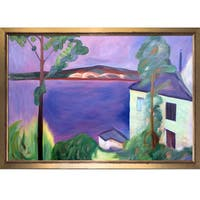 Edvard Munch 'From Nordstrand, 1891' Hand Painted Framed Oil Reproduction on Canvas