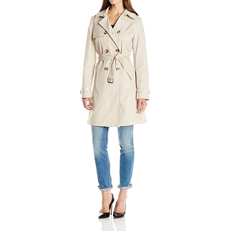 T Tahari Laurie Beige Classic Trench Coat (extra large), ...