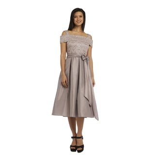 R M Richards Lace Fully-Lined Dress