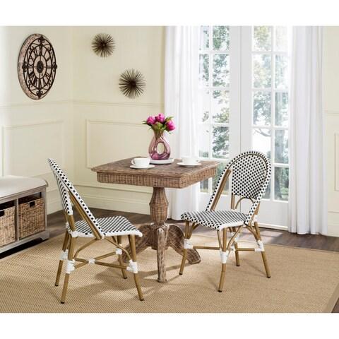 Safavieh Salcha Indoor-Outdoor Black/ White Stacking Side Chair