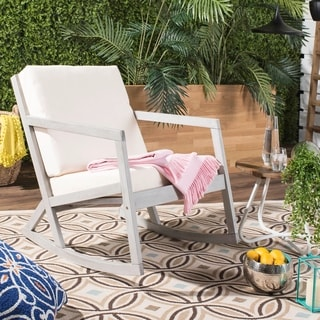 Link to Safavieh Outdoor Living Vernon Grey/ Beige Rocking Chair Similar Items in Outdoor Sofas, Chairs & Sectionals