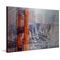 'Golden Gate Bridge' Painting Print on Brushed Aluminum