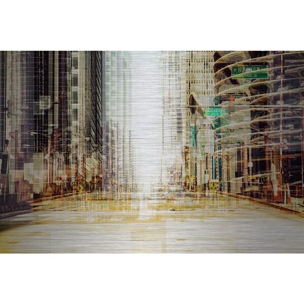 'Luminous' Painting Print on Brushed Aluminum