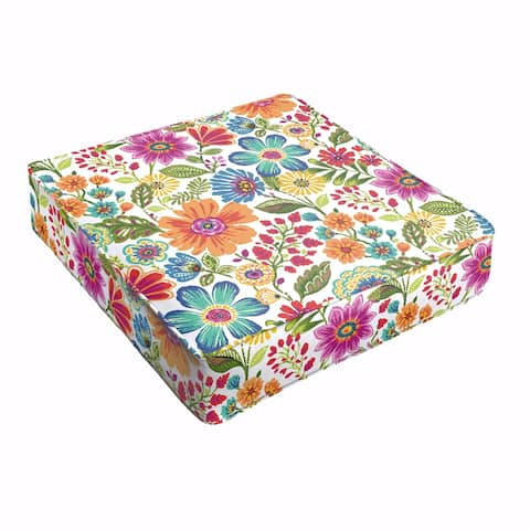 Galliford Multi Floral Indoor/ Outdoor 22.5 inch Corded Cushion