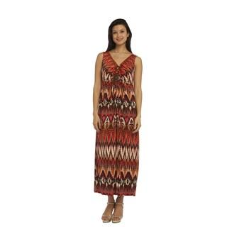 R M Richards Women's Multicolor Maxi Dress