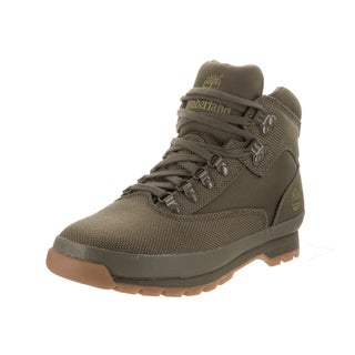 Timberland Men's Euro Hiker Green Fabric Boots