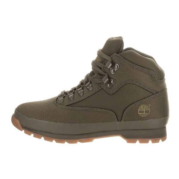 Shop Timberland Men's Euro Hiker Green Fabric Boots
