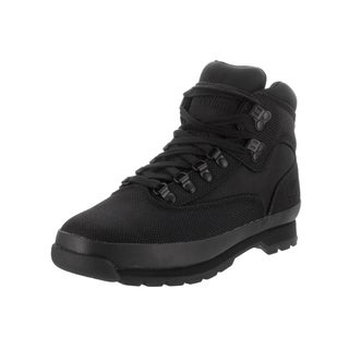 Timberland Men's Euro Hiker Black Fabric Boots