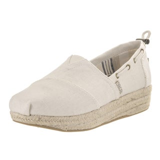 Bobs from Skechers Women's Highlights-set Sail Beige Textile Casual Shoes