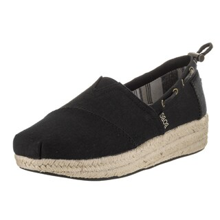 Bobs from Skechers Women's Highlights-set Sail Black Textile Casual Shoes