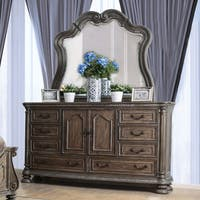Furniture of America Brigette Traditional 2-piece Shabby Rustic Dresser and Mirror Set