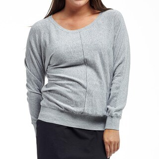 La Cera Women's Plus Size Dome Sleeve Pullover Sweater