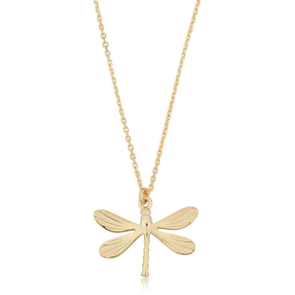 Fremada Italian 14k Yellow Gold Dragonfly Necklace (18 inches). Opens flyout.
