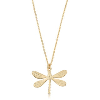 Fremada Italian 14k Yellow Gold Dragonfly Necklace (18 inches)