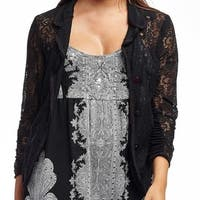 La Cera Women's Lace 3/4 Sleeve Jacket