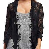 La Cera Women's Lace 3/4 Sleeve Jacket