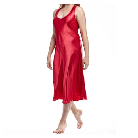 La Cera Women's Plus Size Sleeveless V-neck Nightgown