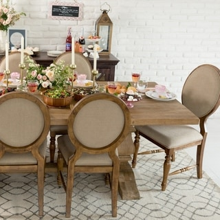 St. Michele Solid Oak Rectangular Dining Table