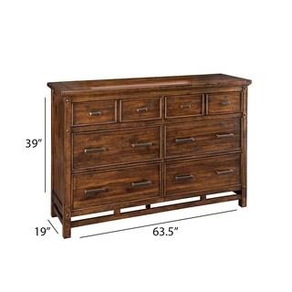Wolf Creek Rustic Vintage Acacia 6-Drawer Dresser