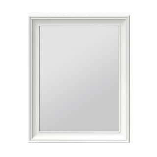 Ronbow William White Traditional Solid Wood Frame 24x32 Bathroom Mirror