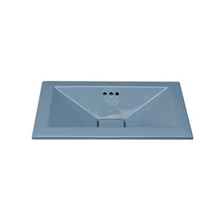 Ronbow Pyramid 20-inch Self-Rimming Ceramic Bathroom Vessel Sink with Overflow