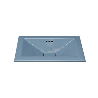 Ronbow Pyramid 20-inch Ceramic Bathroom Vessel Sink with Overflow (2 options available)