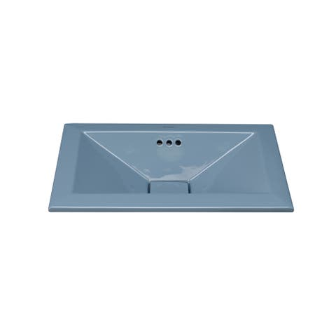 Ronbow Pyramid 20-inch Ceramic Bathroom Vessel Sink with Overflow