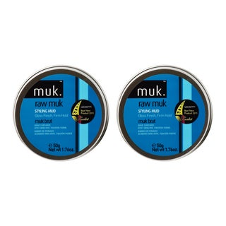 Muk Haircare 1.76-ounce Raw Gloss Finish Styling Mud (Pack of 2)