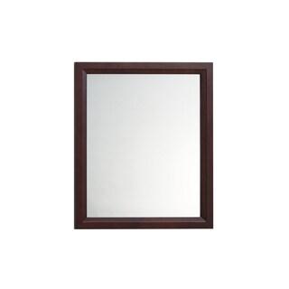 Ronbow Solid Wood 30 x 35-inch Transitional-frame Walnut Bathroom Mirror