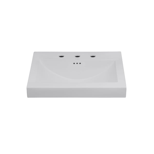 Ronbow Evin 24-inch Self-Rimming Ceramic Bathroom Vessel Sink